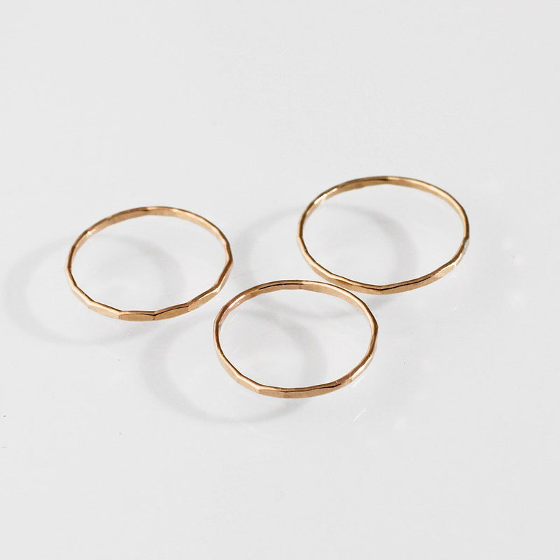 Thin Gold Stacking Rings