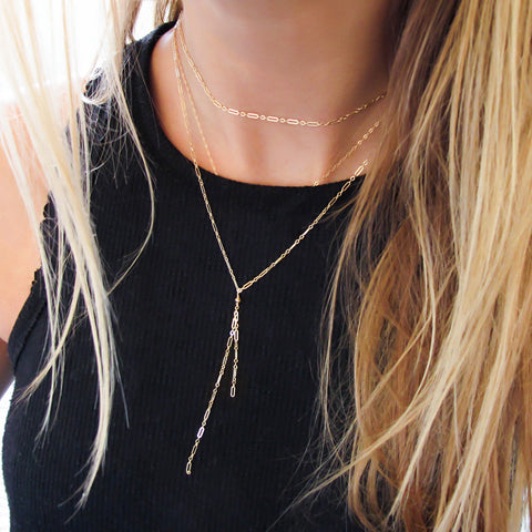 delicate gold choker wrap necklace