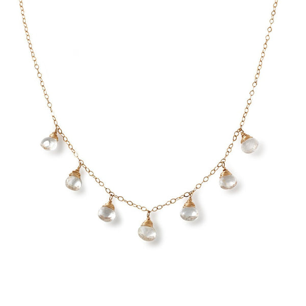white topaz and 14k gold filled necklace by delia langan jewelry
