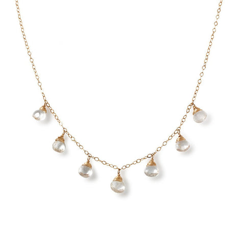 White Topaz Party Girl Necklace