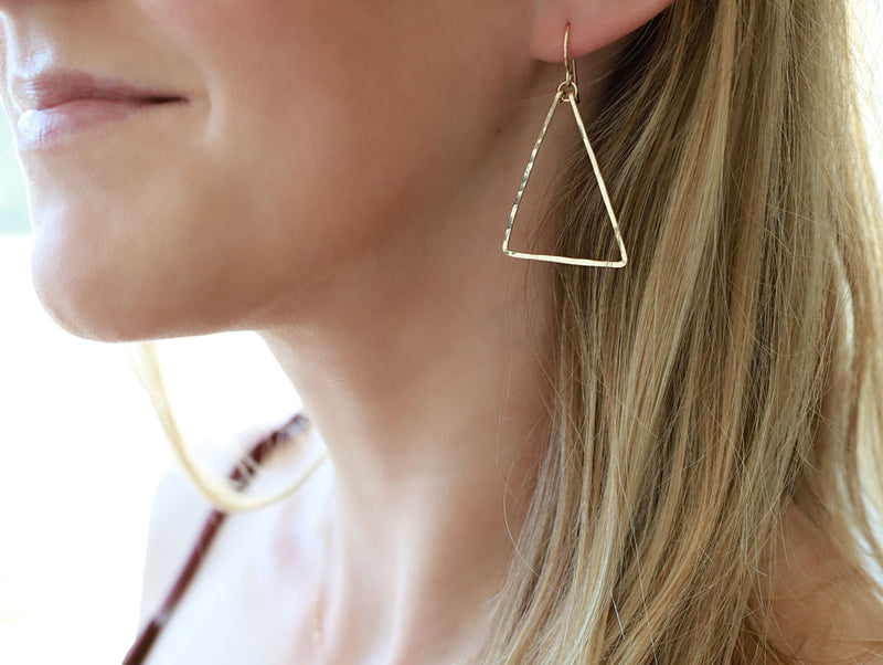 triangle shaped earrings