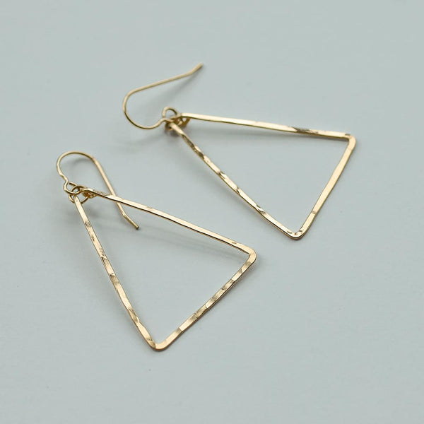 delicate gold triangle earrings by tahastaffingsolutions