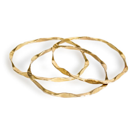 I'm Hammered Gold Bangles