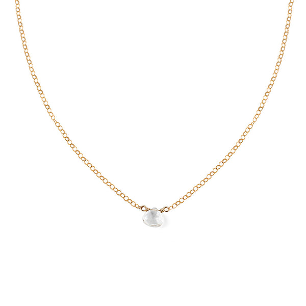 delicate white topaz necklace