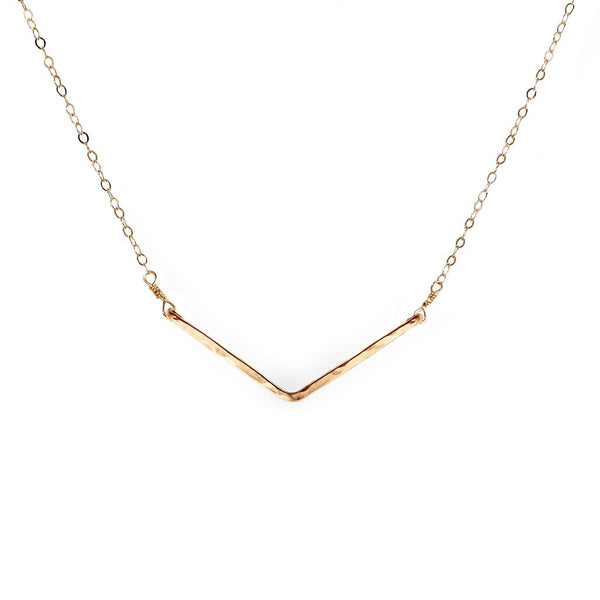 dainty gold wide v necklace by tahastaffingsolutions