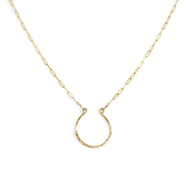 xl good luck necklace large gold horseshoe necklace by delia langan jewelry