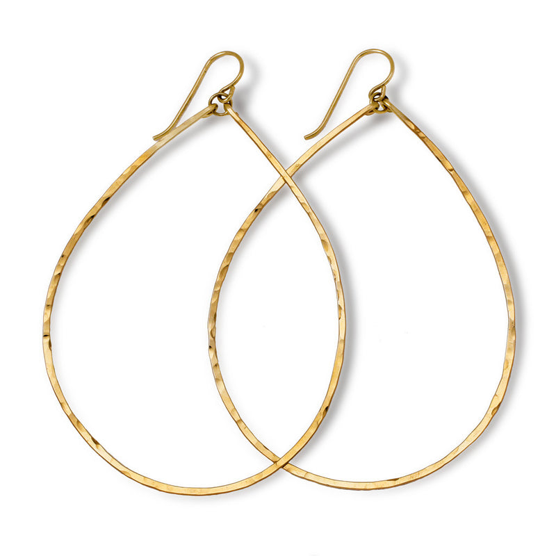 XL Teardrop Hoop Earrings