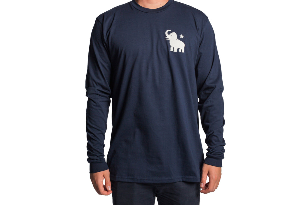 White Mammoth/Blue Long Sleeve