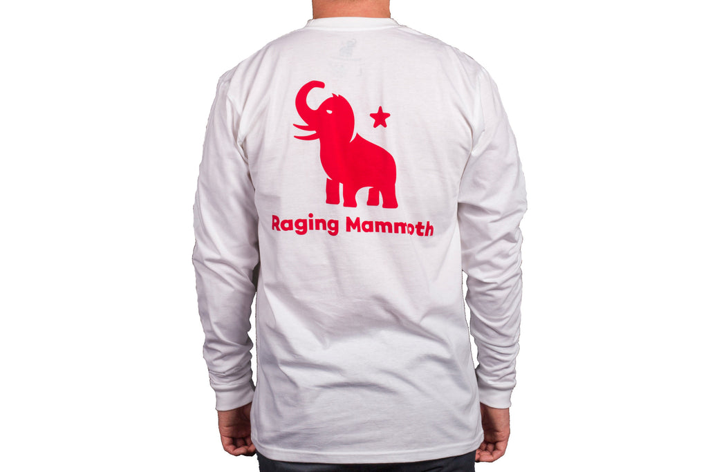 Red Mammoth/White Long Sleeve