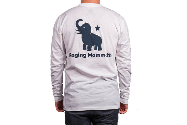 Blue Mammoth/White Long Sleeve