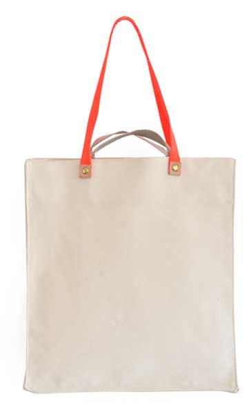 Canvas Box Tote, Long Short Handles
