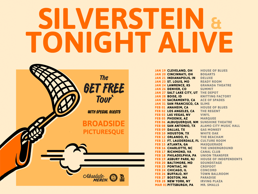 SILVERSTEIN & TONIGHT ALIVE - THE GET FREE TOUR
