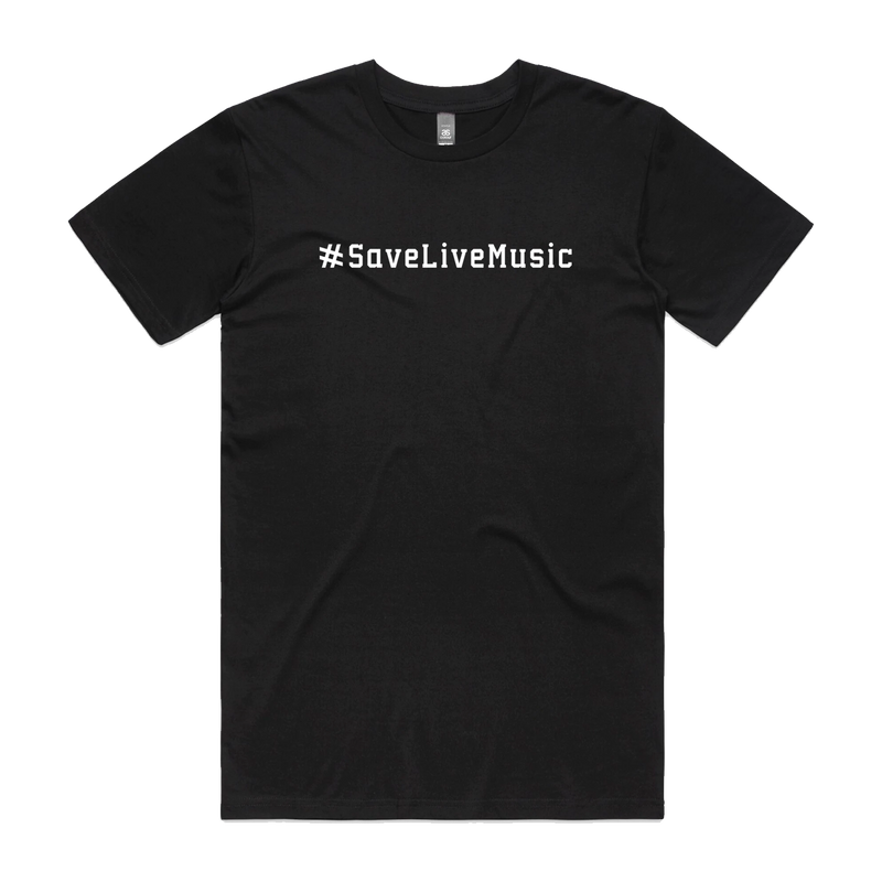 save live music black T
