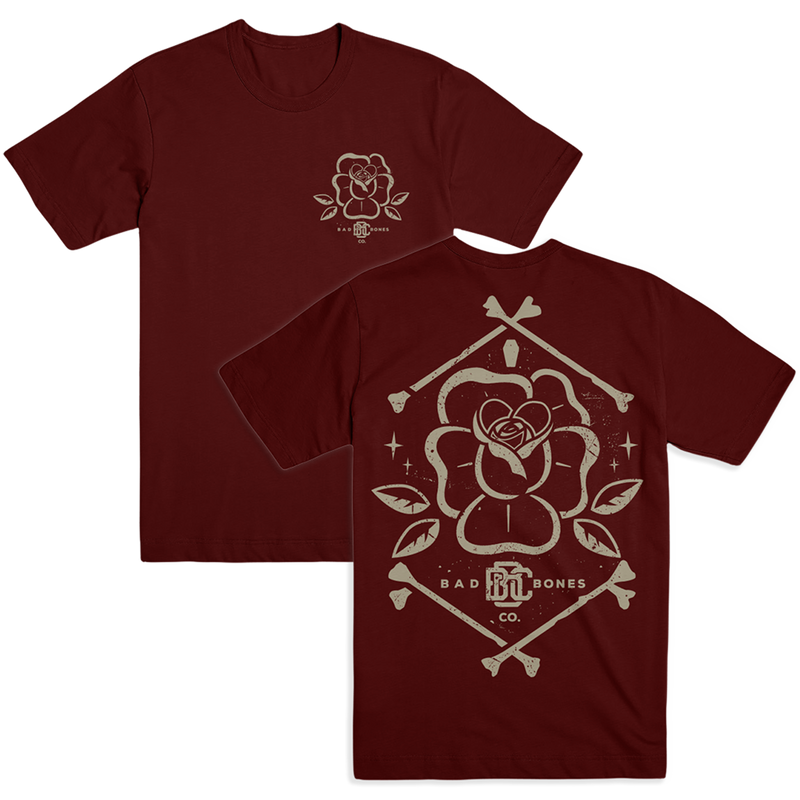 BB - Maroon Rose Tee