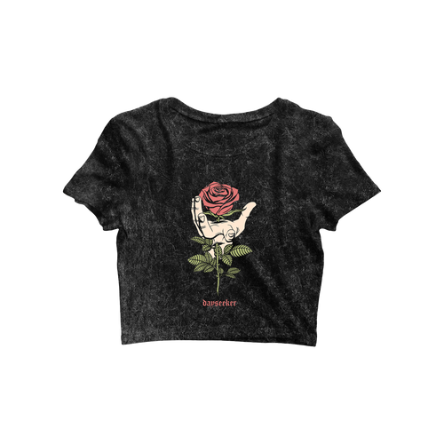 Dayseeker - V-Day Women's Crop Acid Wash Tee