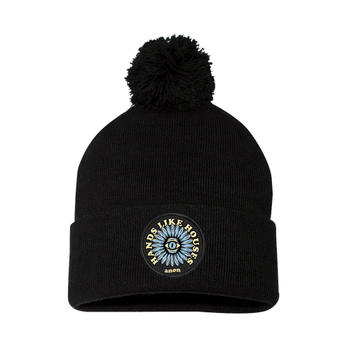 HLH - Eye Flower Pom Beanie