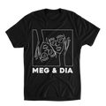 Meg and Dia - Faces Tee