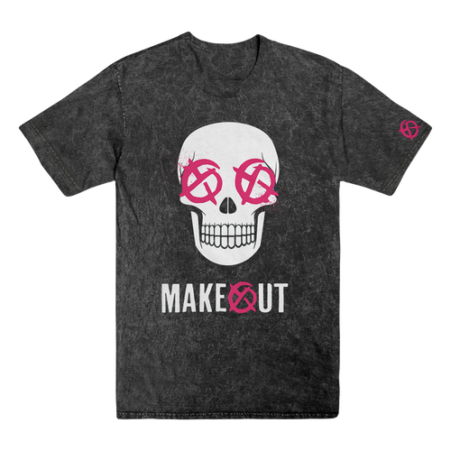 Makeout - Skull Acid Wash Dye Tee