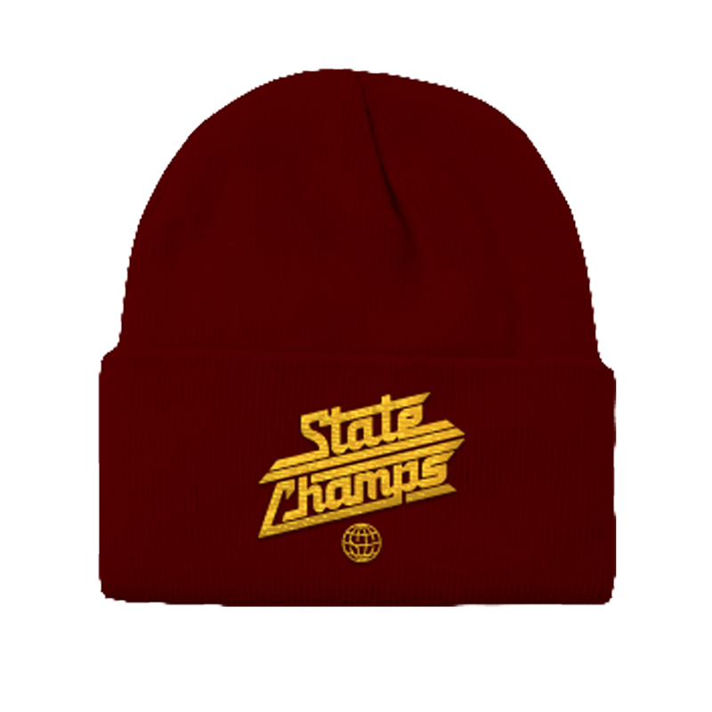 SC - Around The World Logo Beanie (Mrn/Gld)
