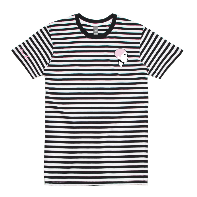 Tiara Thomas - Embroidered Striped Tee