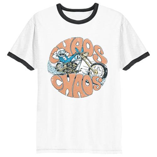 Chaos Chaos - Yeti Motorcycle Ringer Tee