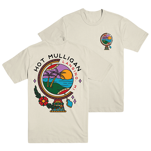 Hot Mulligan - Globe Tee (Cream)