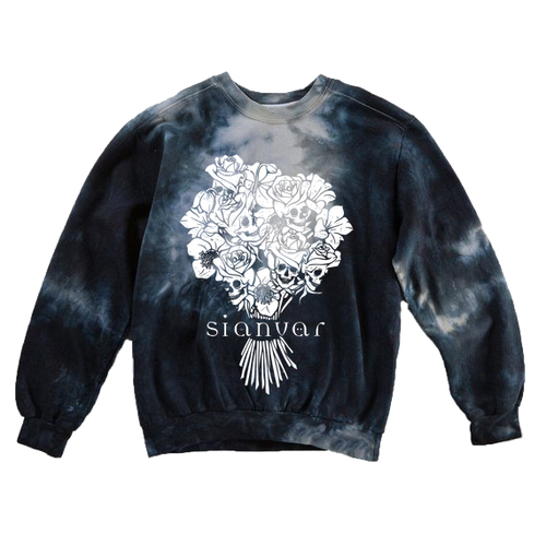 Sianvar - Bouquet of Skulls Dyed Crewneck