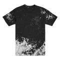 SLAVES - Speckle Rose Dye Tee (Black and White)