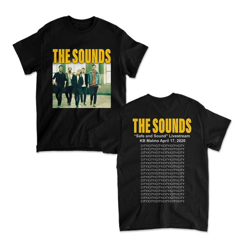 The Sounds - Safe and Sound Tee Black