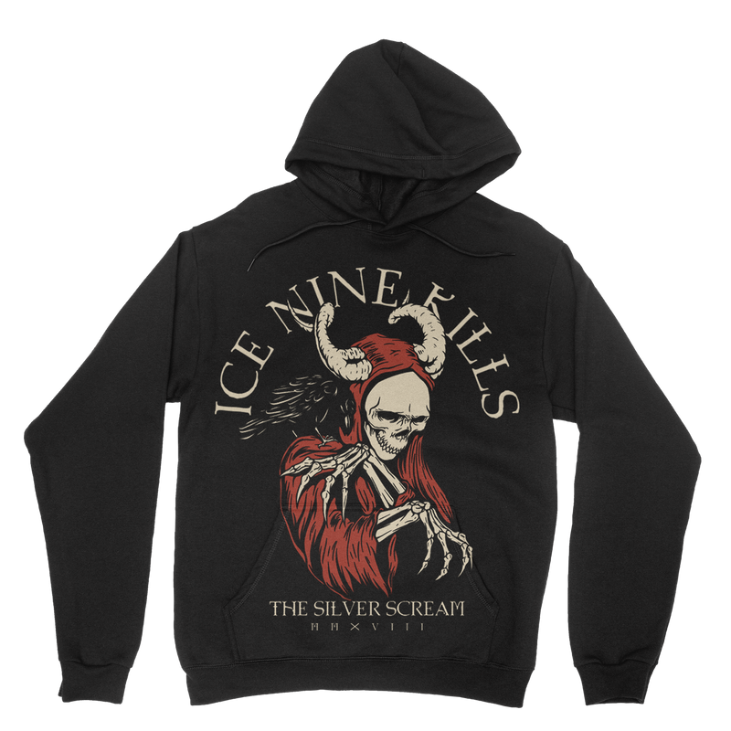 Silver Scream Demon Hoodie