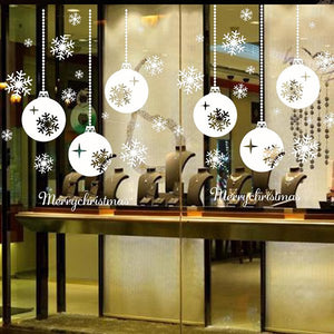 Christmas Window Decals.Christmas Window Stickers Vinyl Diy Star Snow Angel Wall Decals For Family Decoration