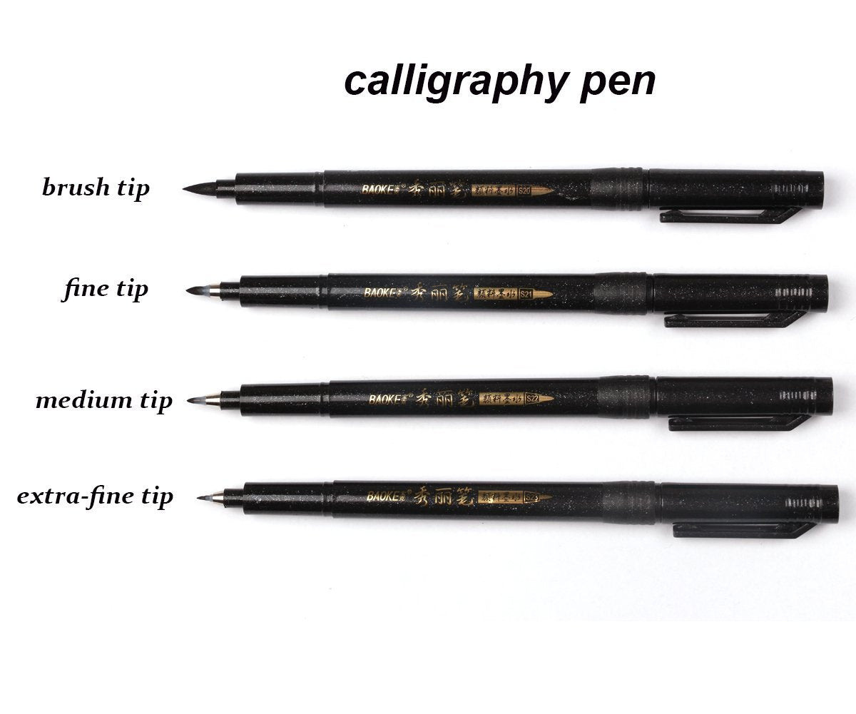 Calligraphy Brush Pens - 4 Pieces