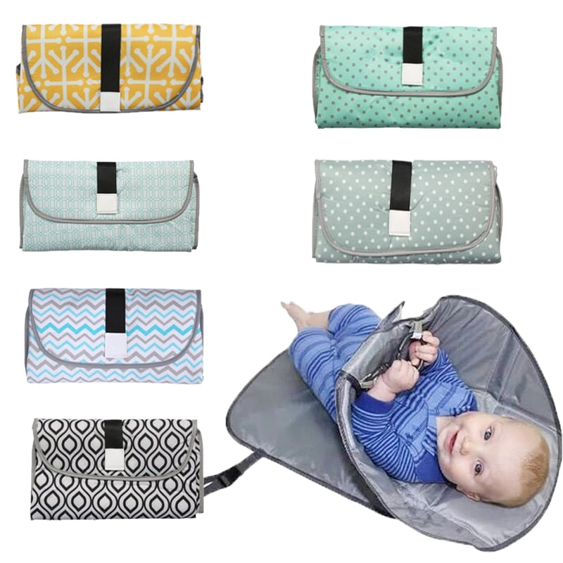 Soft Foldable Changing Pad and Diaper Bag