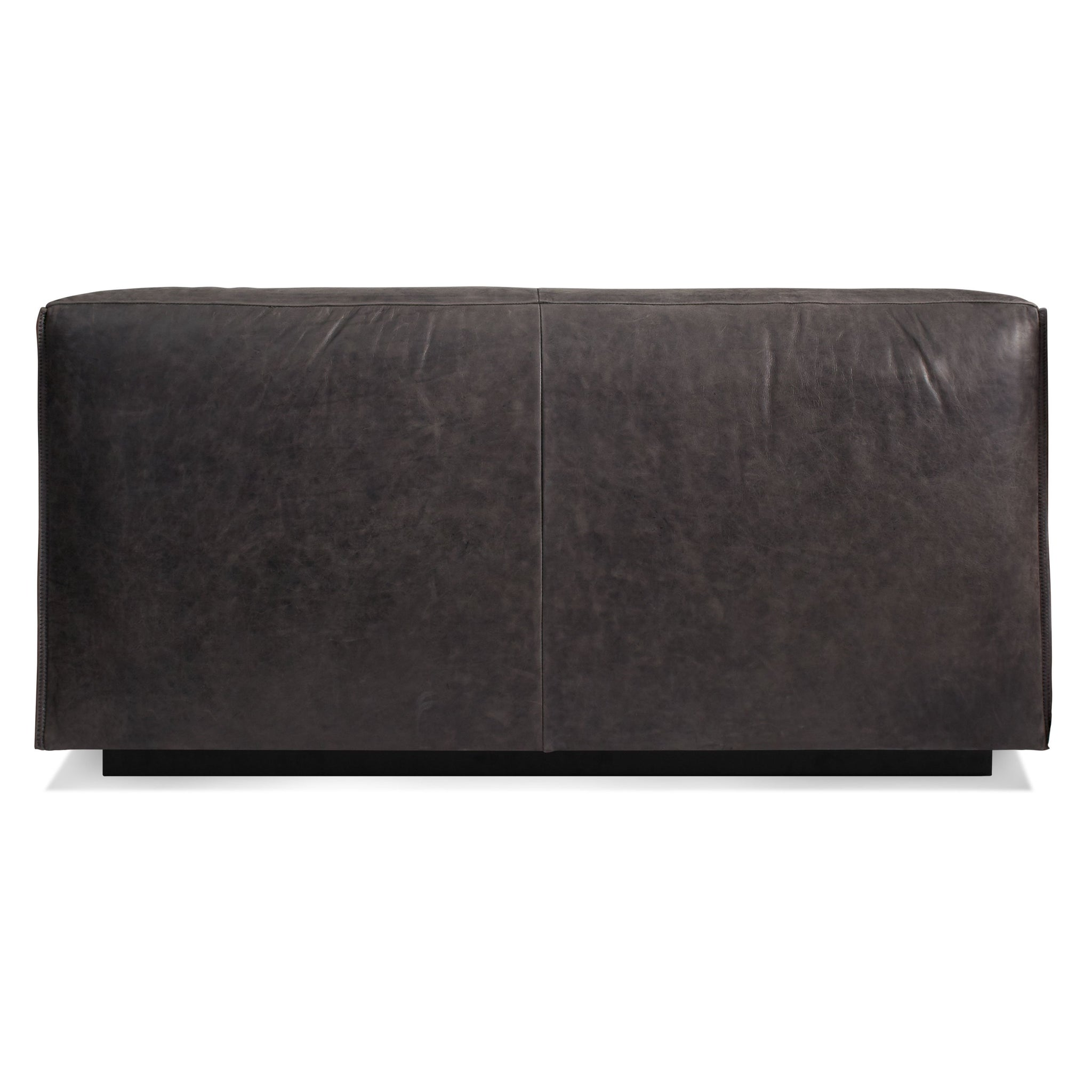 Cleon Leather Armless Sofa