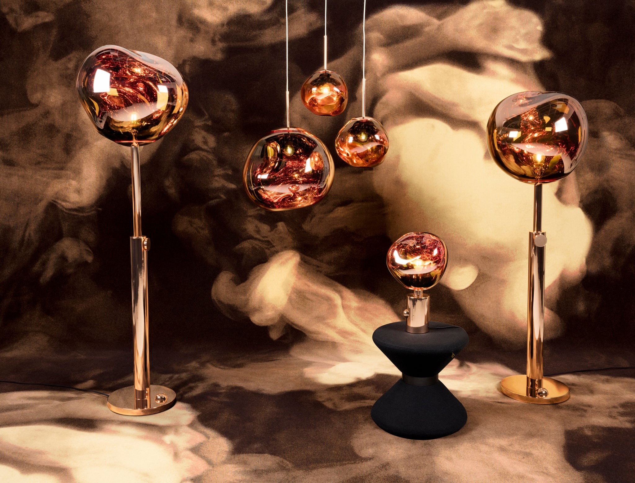 Melt Floor Lamp Copper