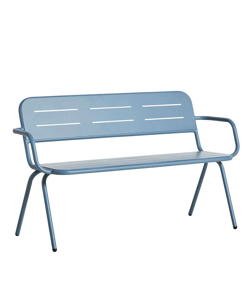 Ray Outdoor Bench with Armrest