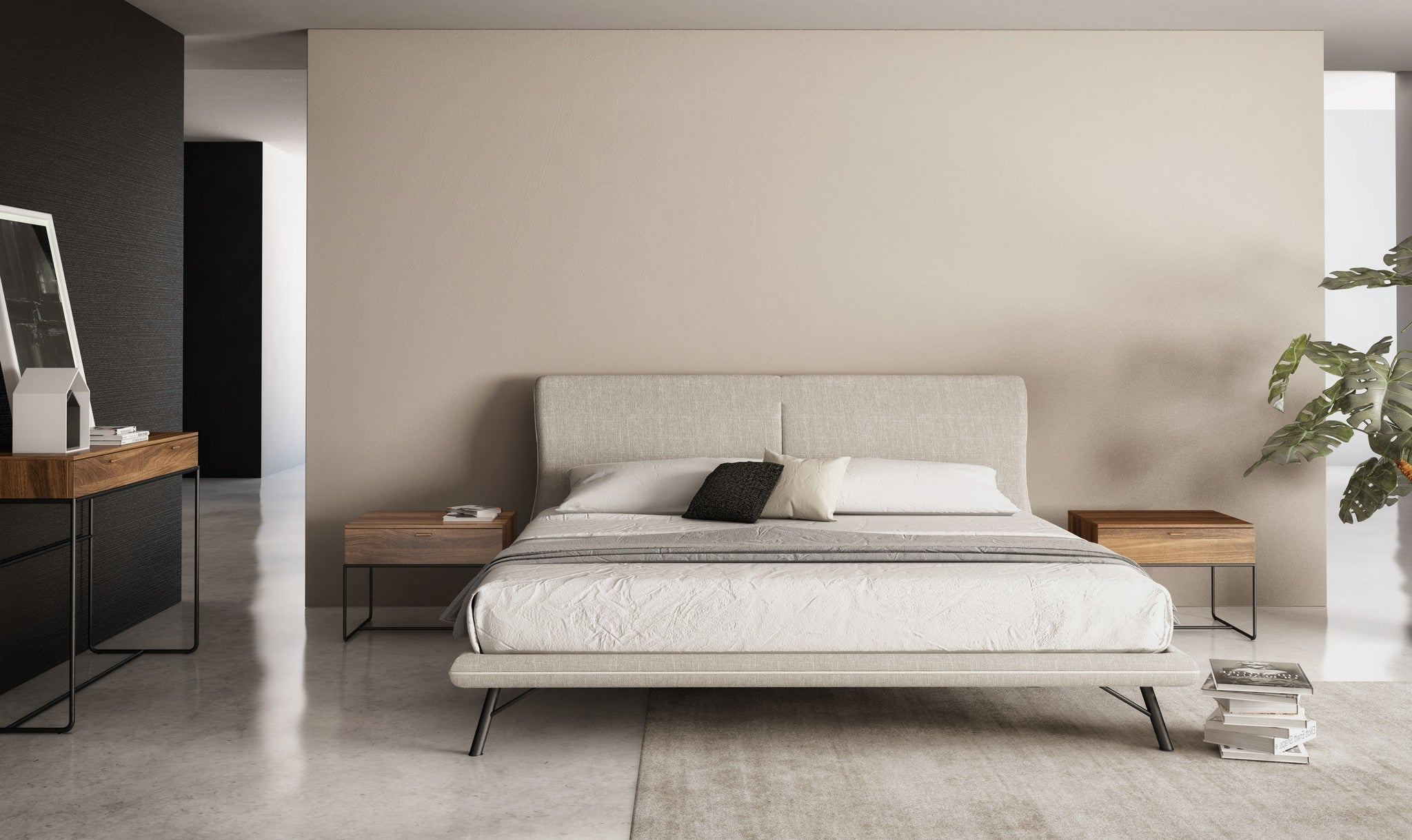 Linea Bedroom Furniture Linea Queen Bed Area Furniture For The Modern Home
