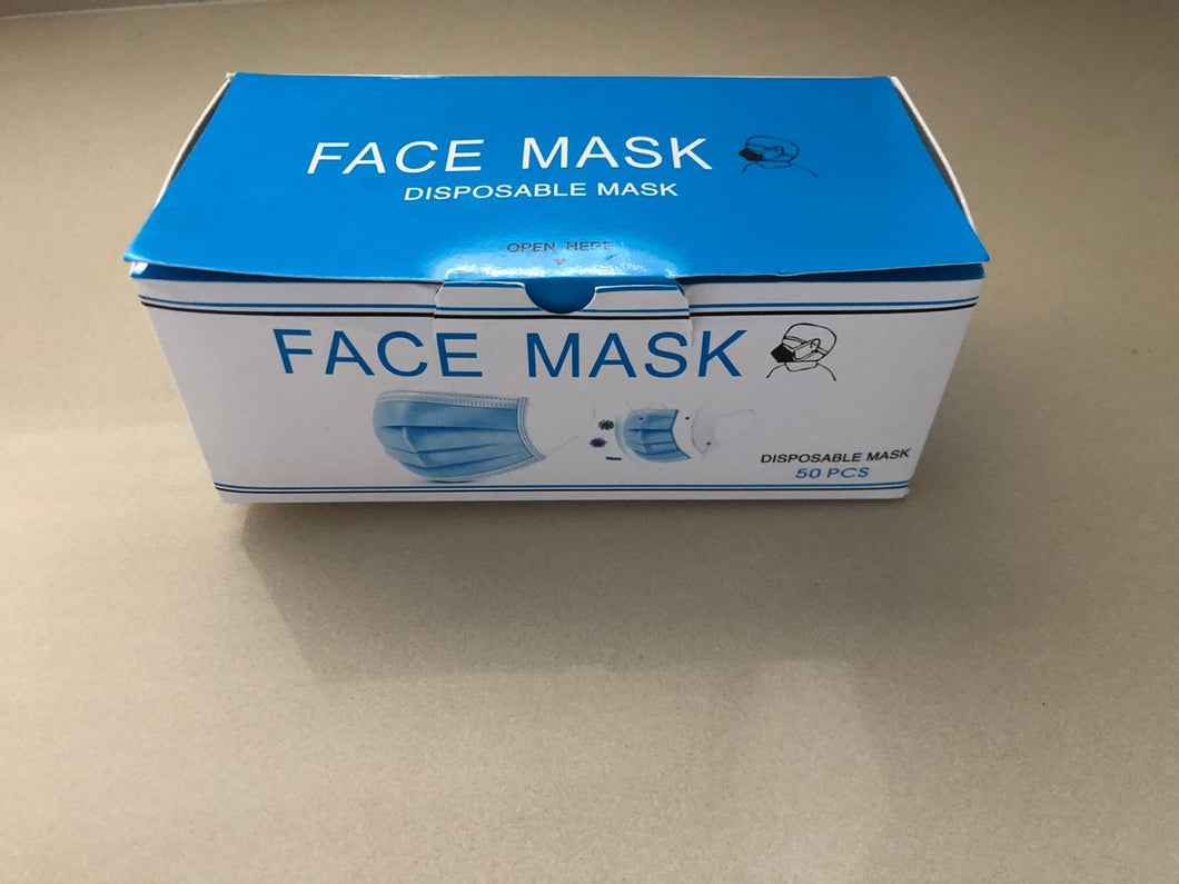 3 Ply mask box with 50 units