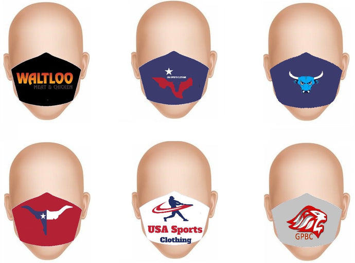 Sublimated Material Face Masks