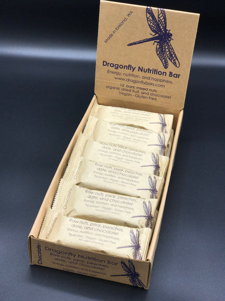 Four cases of Dragonfly Bars. Almond, Walnut, Cashew, and chocolate!