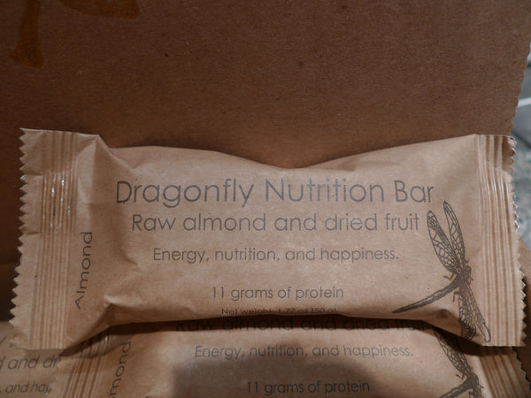 Almond, coconut, and dried fruit nutrition bar