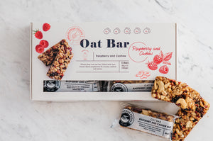 Raw Oat Bar – Raspberry & Cashew 12x30g (360g)