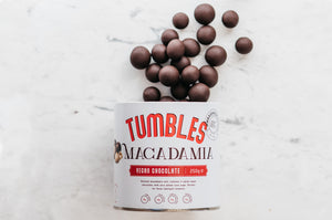 Macadamia Tumbles (Vegan Chocolate Coated) 250g