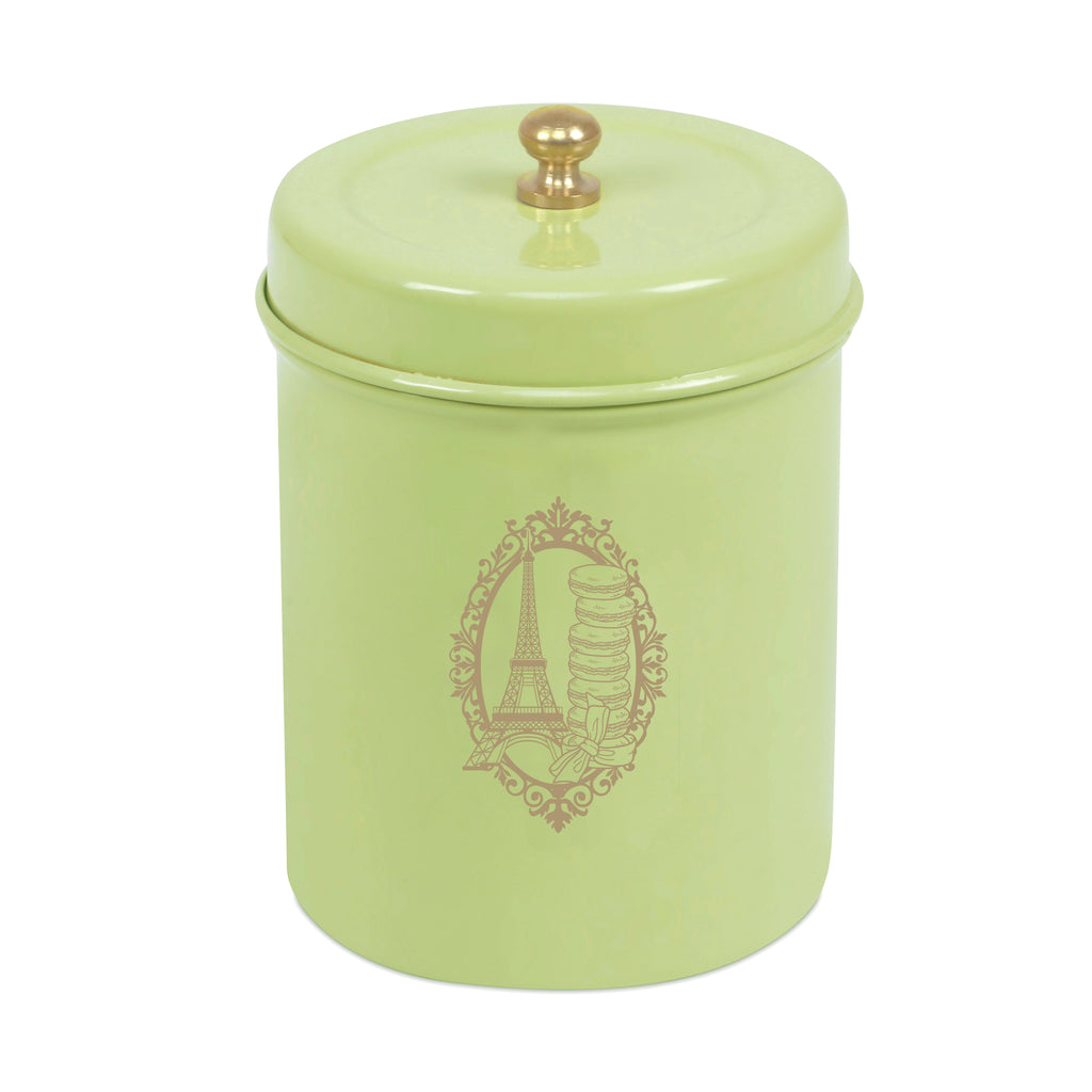 ELAN PARIS CANISTER JAR, STAINLESS STEEL (500ML, PISTACHIO)