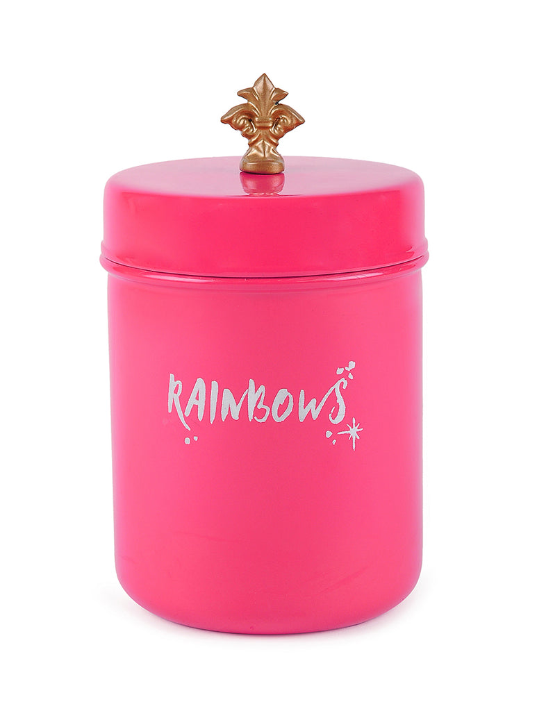 Elan Rainbow Canister, Stainless Steel (500ml, Pink)