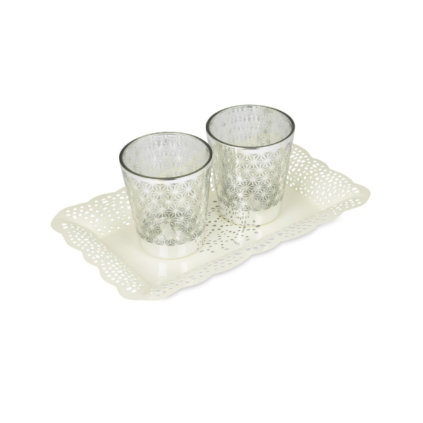 Elan Arabseque Serving Tray ( Small, Off White)