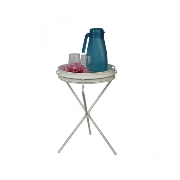 Elan Collapsible Tray Table, Side Table (Off White)