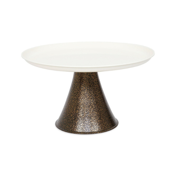 Elan Tall Cake Stand with Server (Black, Off White)