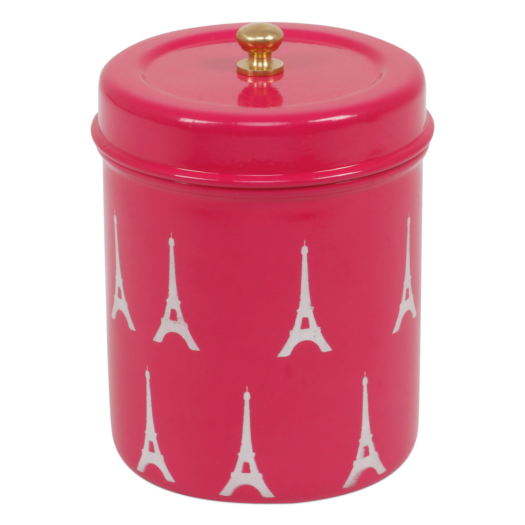 Elan Amour Eiffel Tower Canister, Stainless Steel, 500ml (Pink)