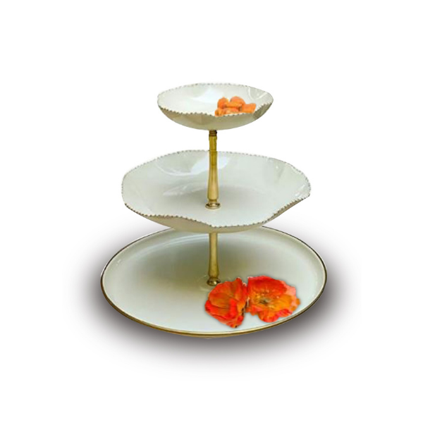 The Kesar Three Tier Cake Stand (Off White)